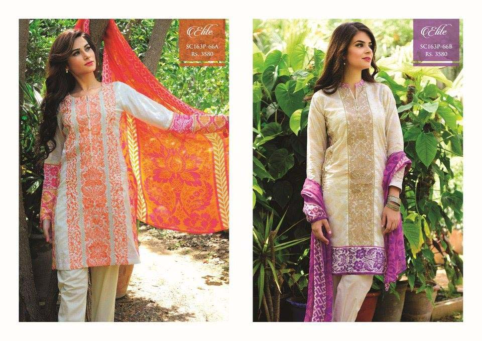 Strangi Eid Collection 2016- 3 piece suit with Chiffon Dupatta by Bonanza (14)