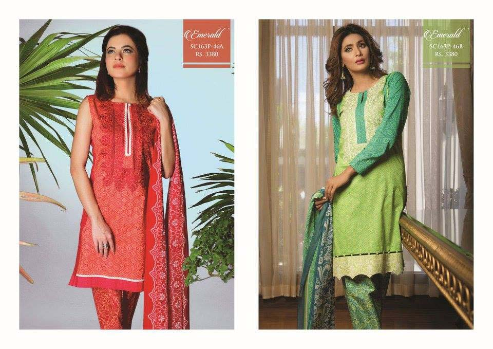 Strangi Eid Collection 2016- 3 piece suit with Chiffon Dupatta by Bonanza (3)