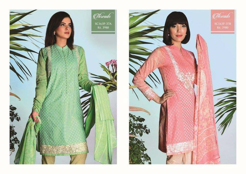 Strangi Eid Collection 2016- 3 piece suit with Chiffon Dupatta by Bonanza (6)