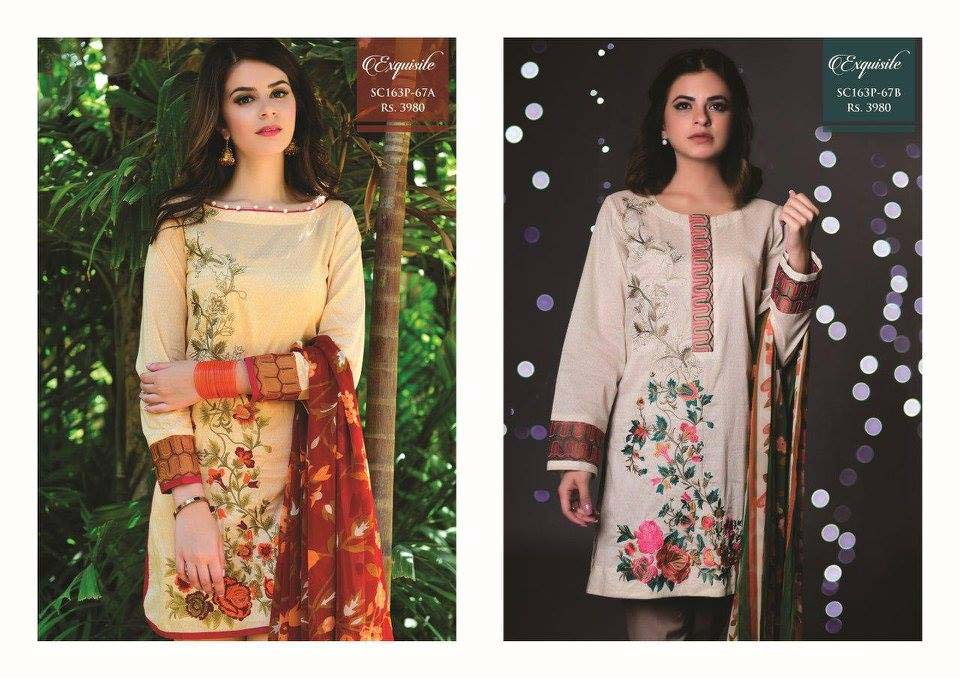 Strangi Eid Collection 2016- 3 piece suit with Chiffon Dupatta by Bonanza (8)