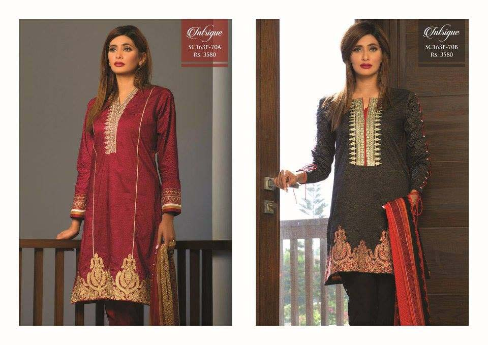 Strangi Eid Collection 2016- 3 piece suit with Chiffon Dupatta by Bonanza (9)