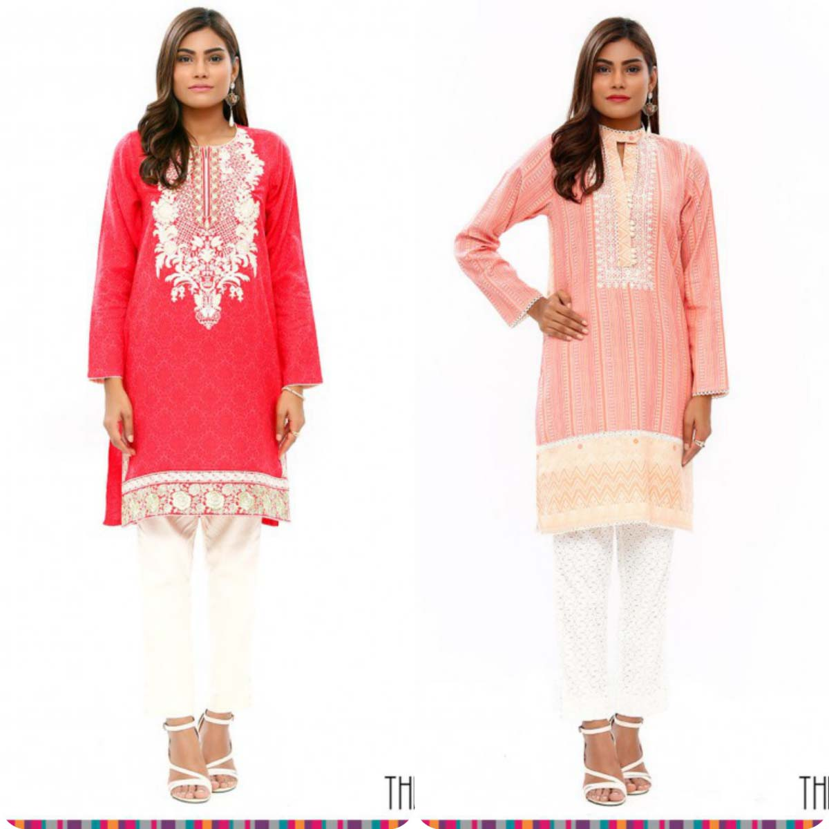 Stylish Embroidered Eid KurtisTunics for Girls By THREDZ 2016-2016 Complete Look-Book (1)