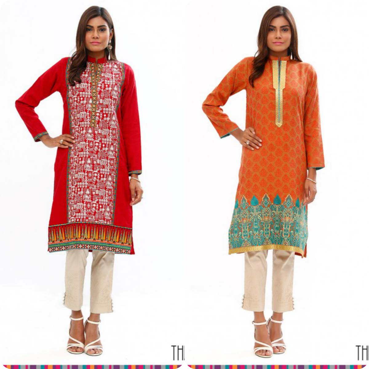 Stylish Embroidered Eid KurtisTunics for Girls By THREDZ 2016-2016 Complete Look-Book (12)