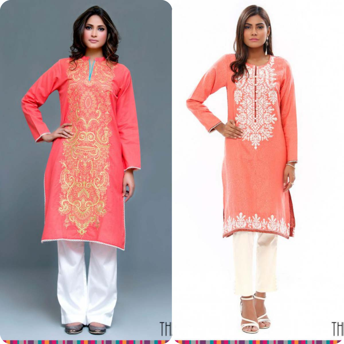 Stylish Embroidered Eid KurtisTunics for Girls By THREDZ 2016-2016 Complete Look-Book (13)