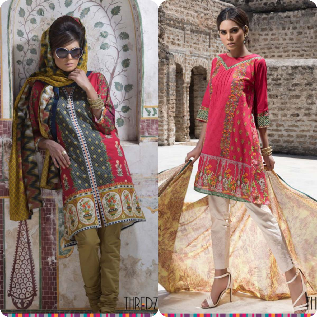 Stylish Embroidered Eid KurtisTunics for Girls By THREDZ 2016-2016 Complete Look-Book (2)