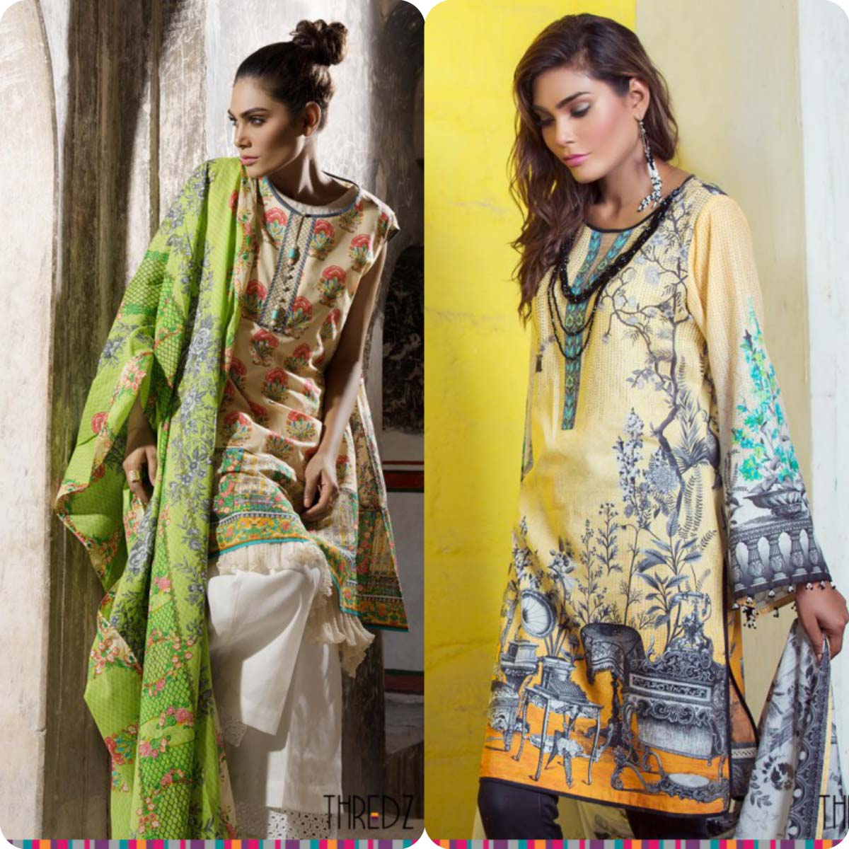 Stylish Embroidered Eid KurtisTunics for Girls By THREDZ 2016-2016 Complete Look-Book (4)
