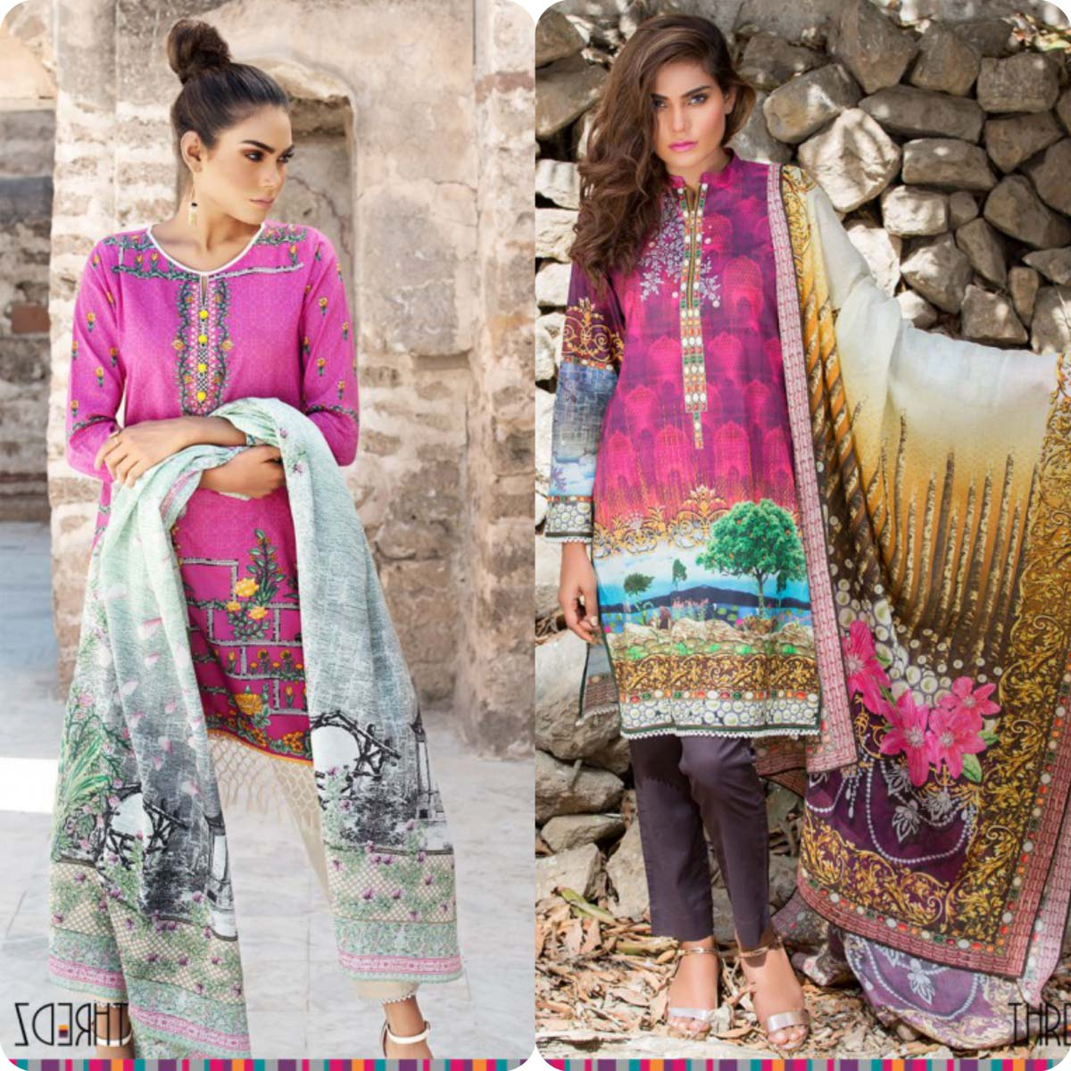 Stylish Embroidered Eid KurtisTunics for Girls By THREDZ 2016-2016 Complete Look-Book (5)
