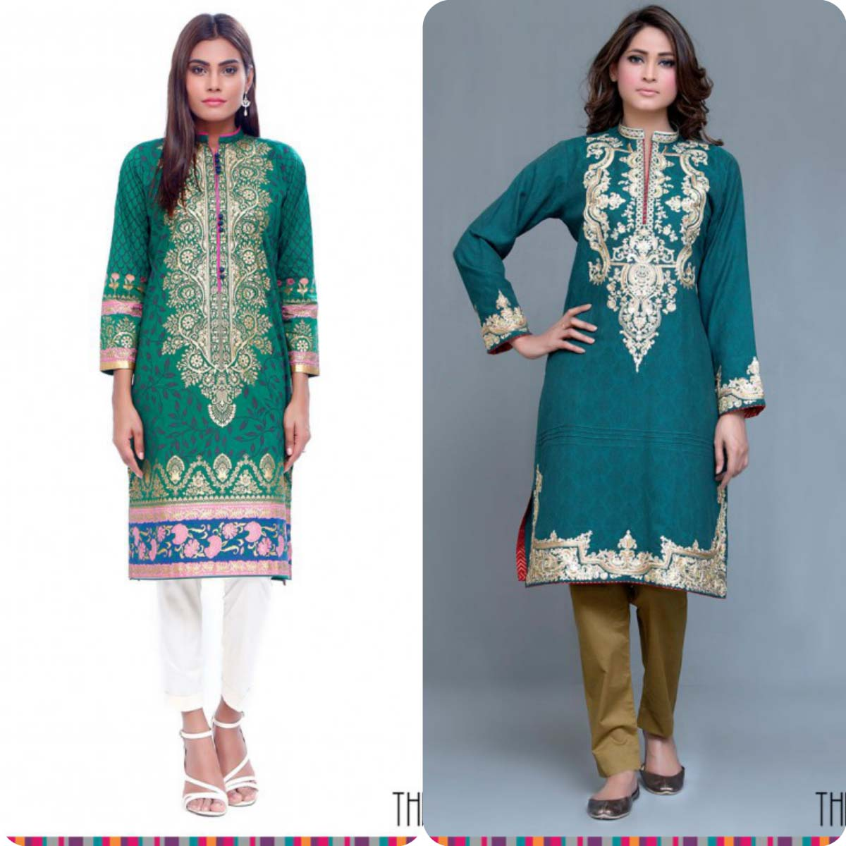 Stylish Embroidered Eid KurtisTunics for Girls By THREDZ 2016-2016 Complete Look-Book (6)