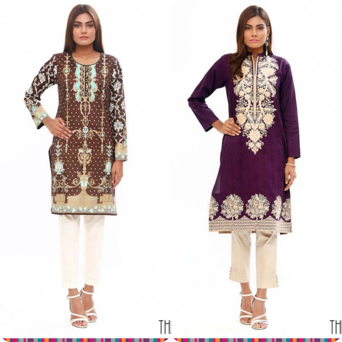 Stylish Embroidered Eid KurtisTunics for Girls By THREDZ 2016-2016 Complete Look-Book (8)