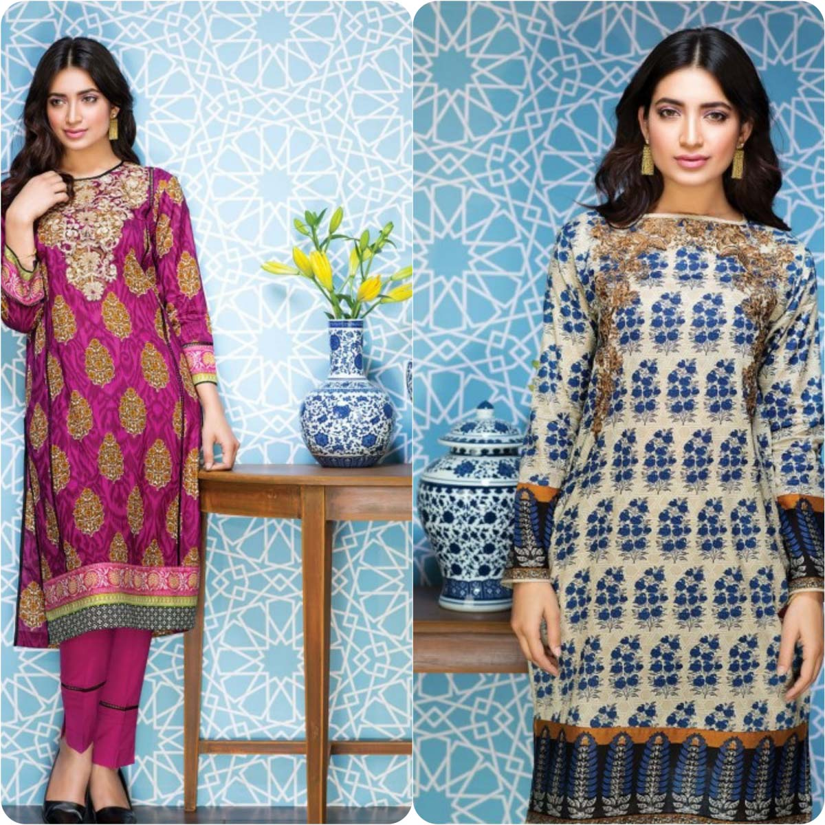 Stylish Embroidered Eid Suits Collection By Khaadi 2016-2017 (13)