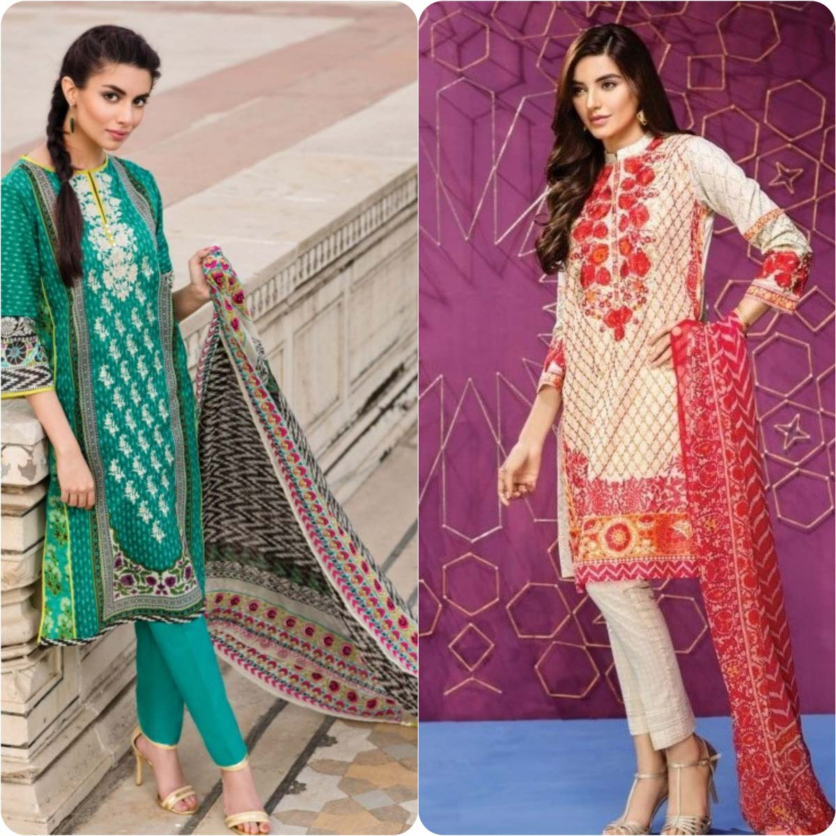Stylish Embroidered Eid Suits Collection By Khaadi 2016-2017 (14)