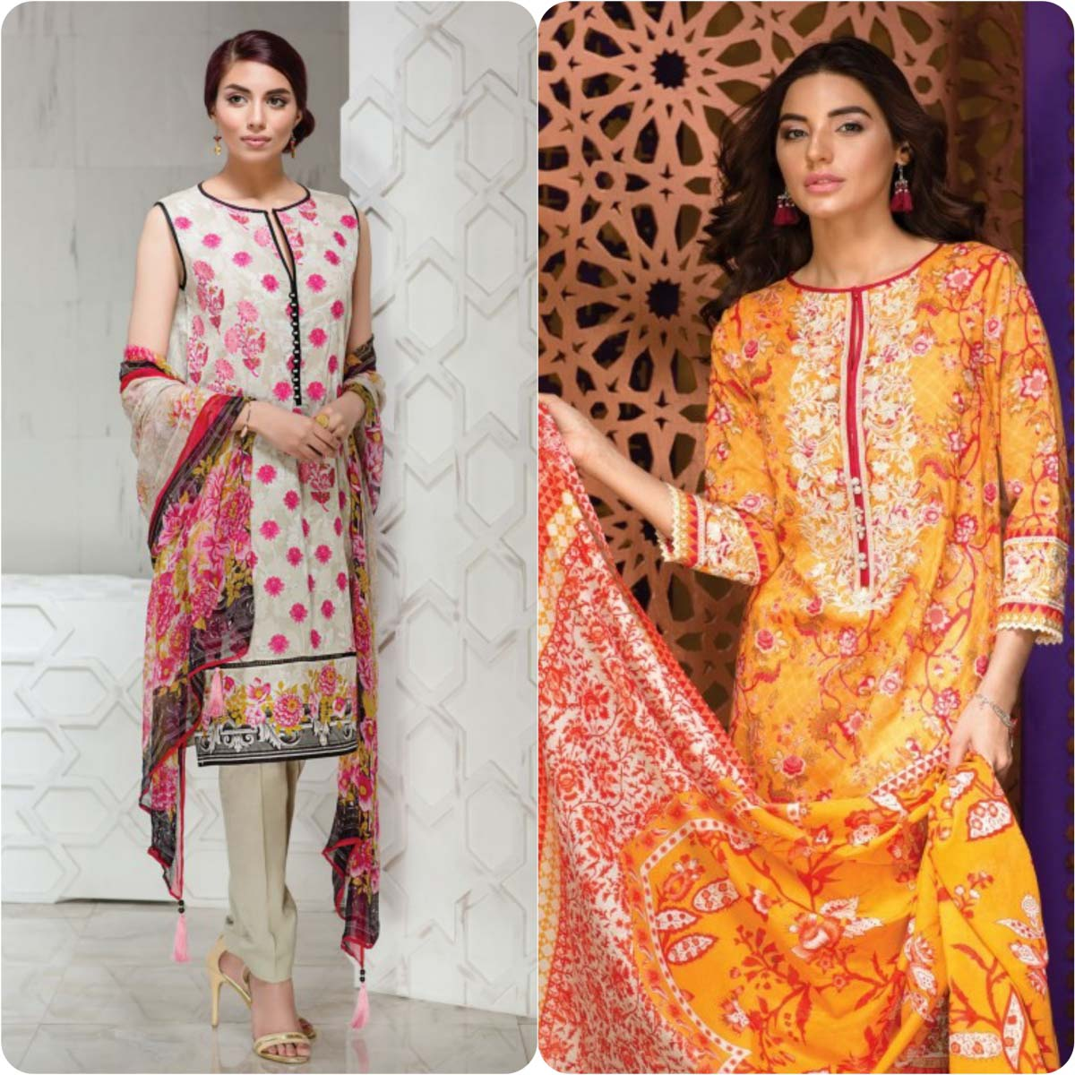 Stylish Embroidered Eid Suits Collection By Khaadi 2016-2017 (2)