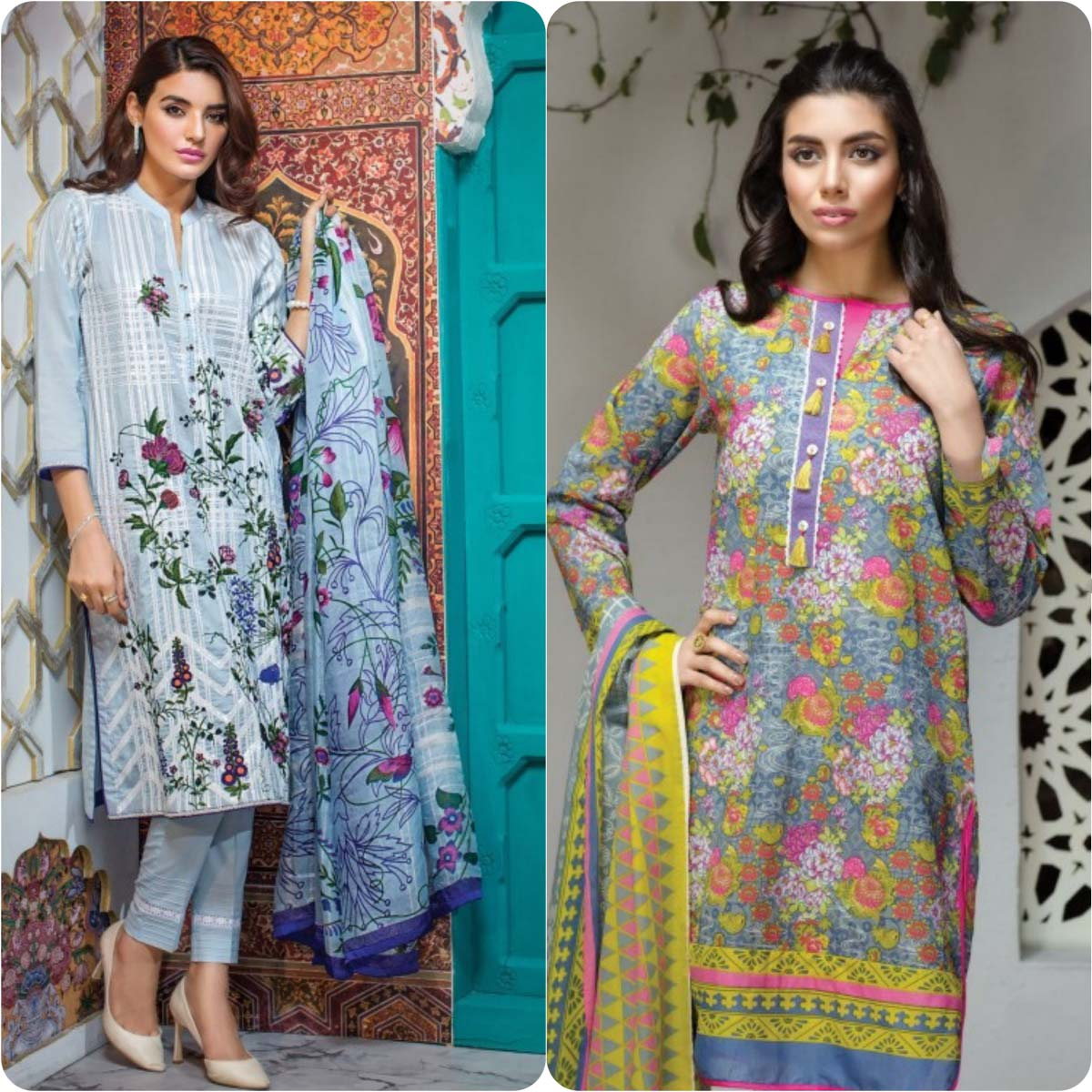Stylish Embroidered Eid Suits Collection By Khaadi 2016-2017 (7)