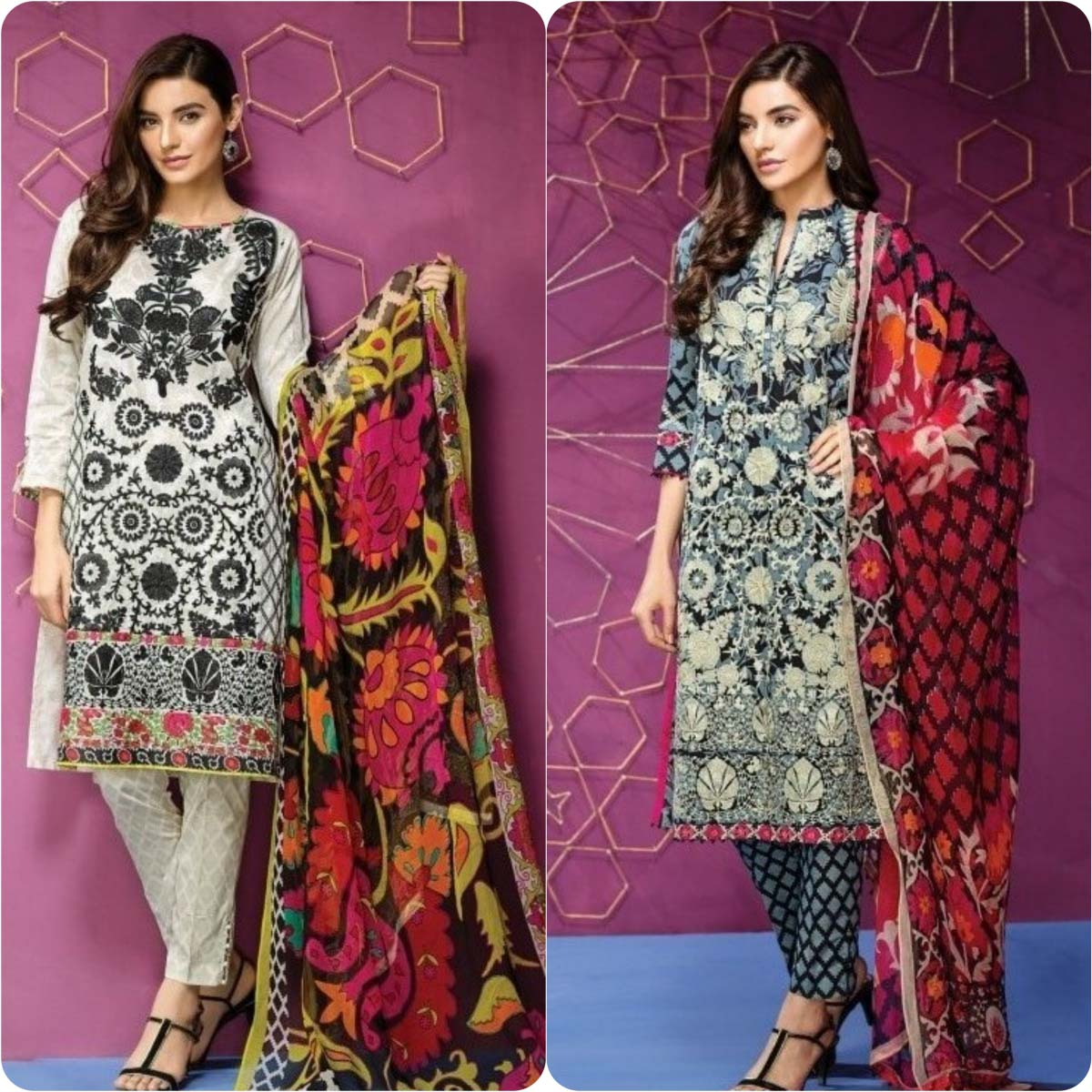 Stylish Embroidered Eid Suits Collection By Khaadi 2016-2017 (9)