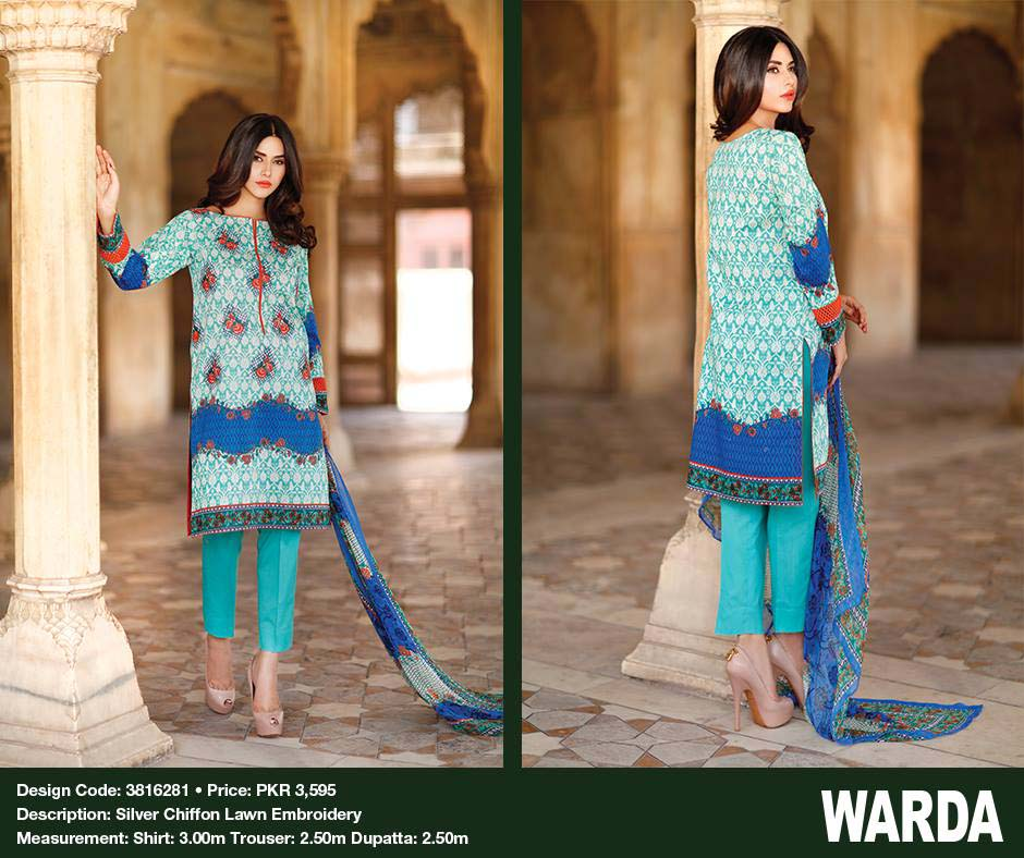 Warda Embroidered Dresses for Eid 2016