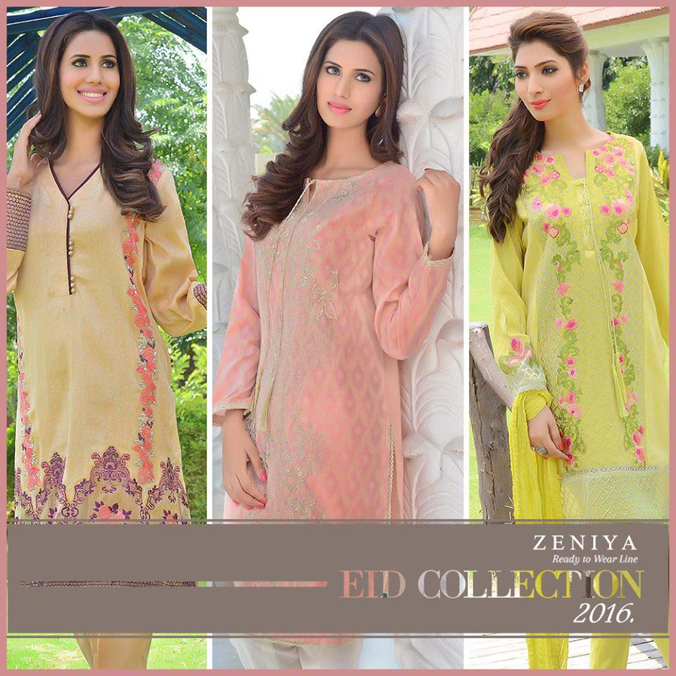 Zeniya Lawn Latest Summer Eid Collection for Women 2016