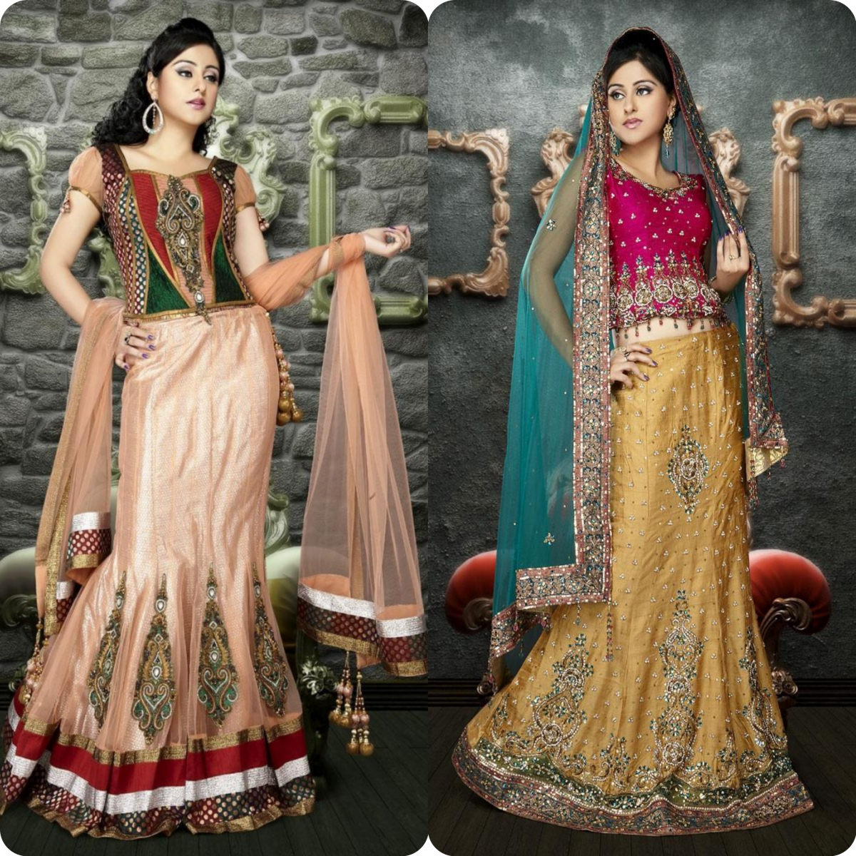 Beautiful Bridal Wear Lehenga Choli Dresses Design Collection 2016-2017
