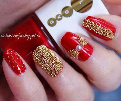 Best Bridal Nail Art Ideas For Wedding Brides 2016-2017 (13)