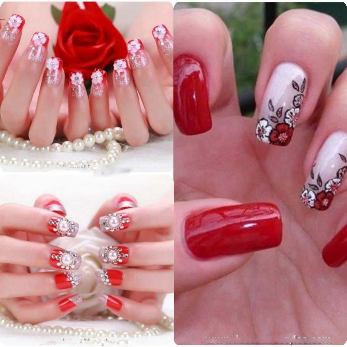 Best Bridal Nail Art Ideas For Wedding Brides 2016-2017