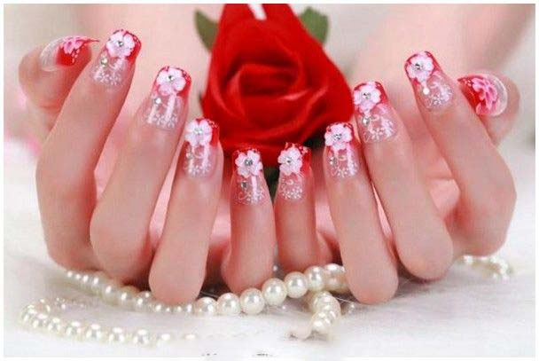 Best Bridal Nail Art Ideas For Wedding Brides 2016-2017 (5)
