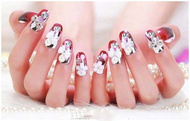 Best Bridal Nail Art Ideas For Wedding Brides 2016-2017 (7)