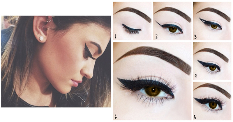 DIY 5 Different Eyeliner Styles For Beginners With Steps & Complete Tutorial (4)