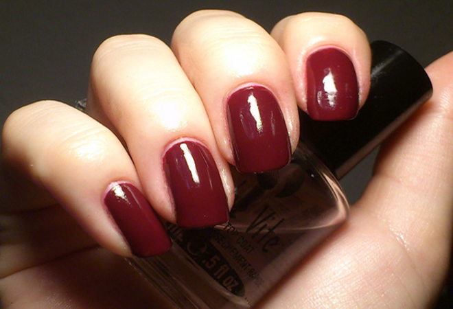 Burgundy nail Polish Color