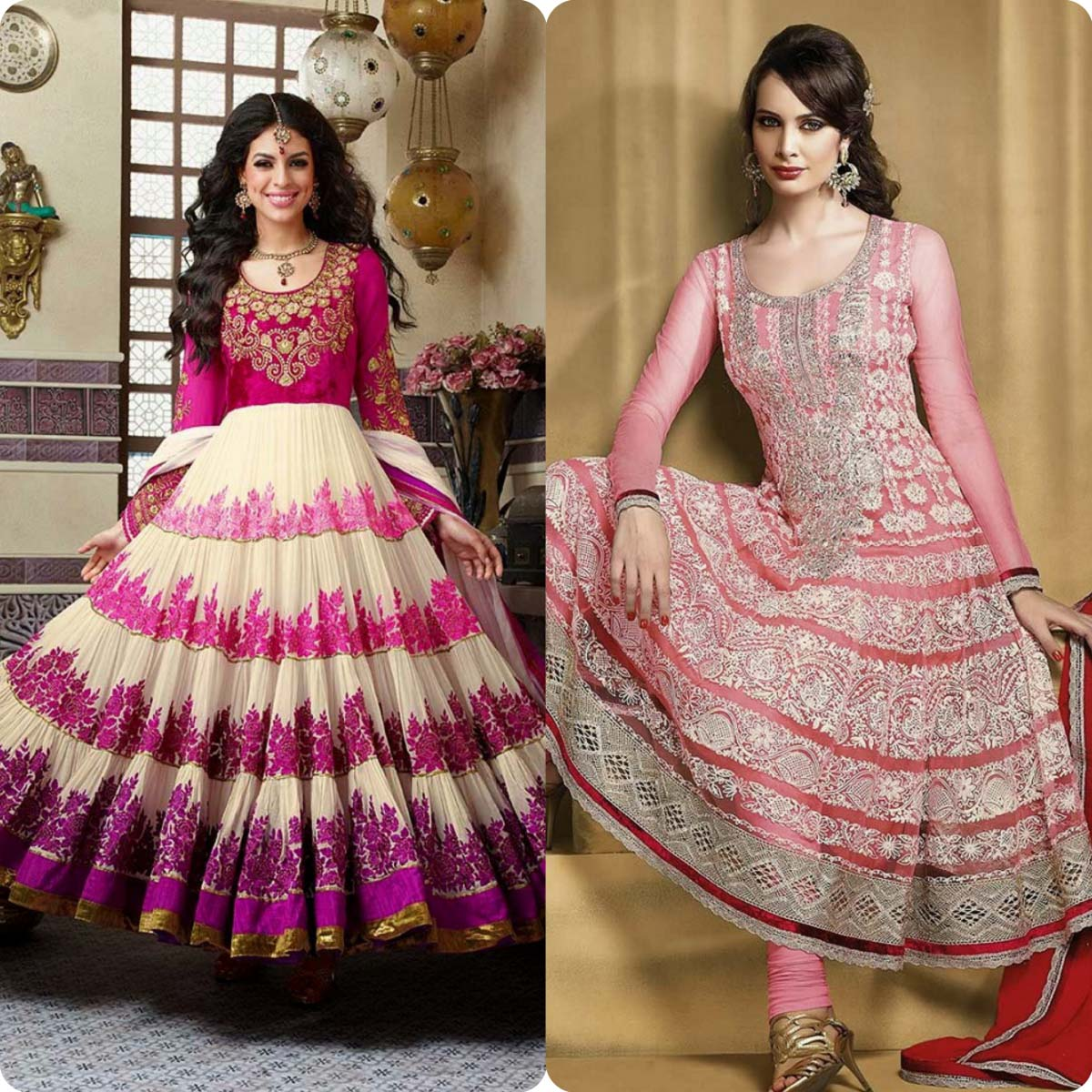 Indian Stylish Umbrella Frock and Churidar Dresses for Girls 2016-2017 (10)