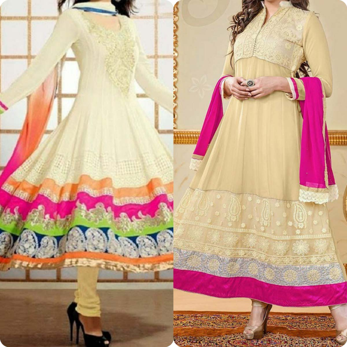 Indian Stylish Umbrella Frock and Churidar Dresses for Girls 2016-2017 (2)