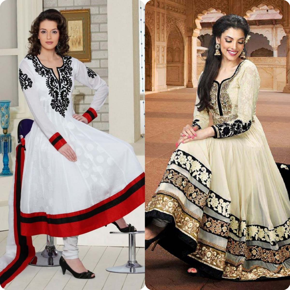 Indian Stylish Umbrella Frock and Churidar Dresses for Girls 2016-2017 (3)