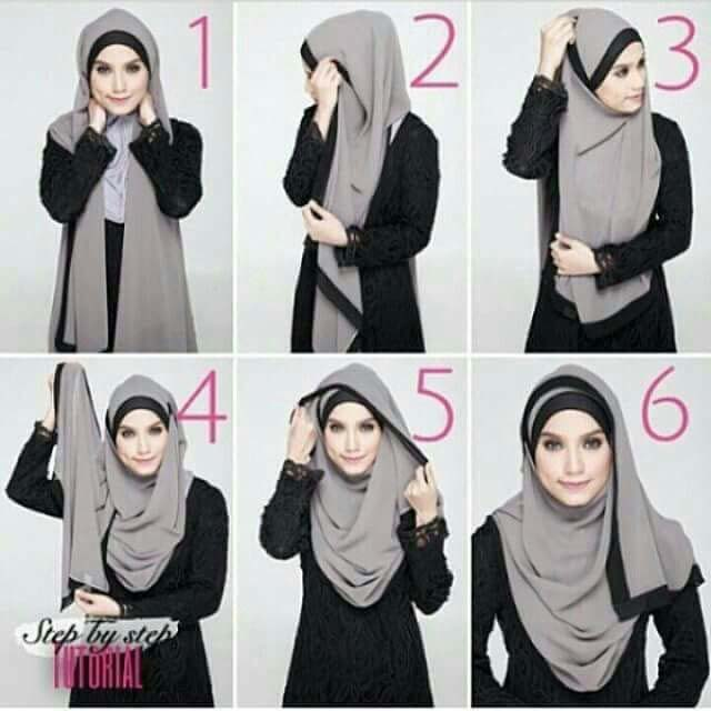 beautiful hijab style collection with tutorial stylo planet. Black Bedroom Furniture Sets. Home Design Ideas