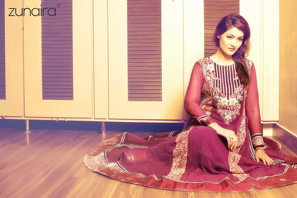 Zunaira Lounge Party Wear Frocks Dresses Design Collection 2016-2017