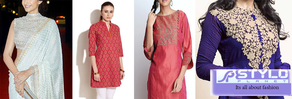 Latest Women Gala Designs-Neckline Types & Designs Collection 2016-2017