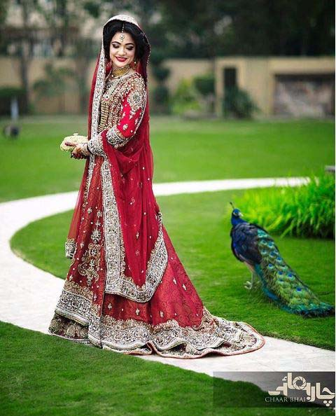 Beautiful Bridal Barat Dresses Designs Collection 2016-2017 for Wedding Brides (7)