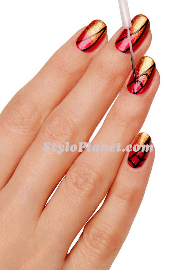 Beautiful Nail Art Ideas For Eid-Ul-Adha 2016- Step by Step Nail Art tutorial (25)