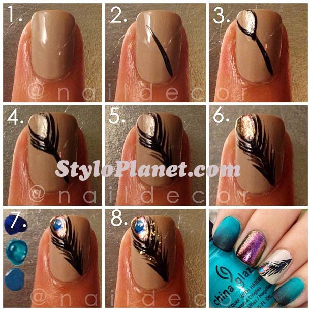Beautiful Nail Art Ideas For Eid-Ul-Adha 2016- Step by Step Nail Art tutorial (28)