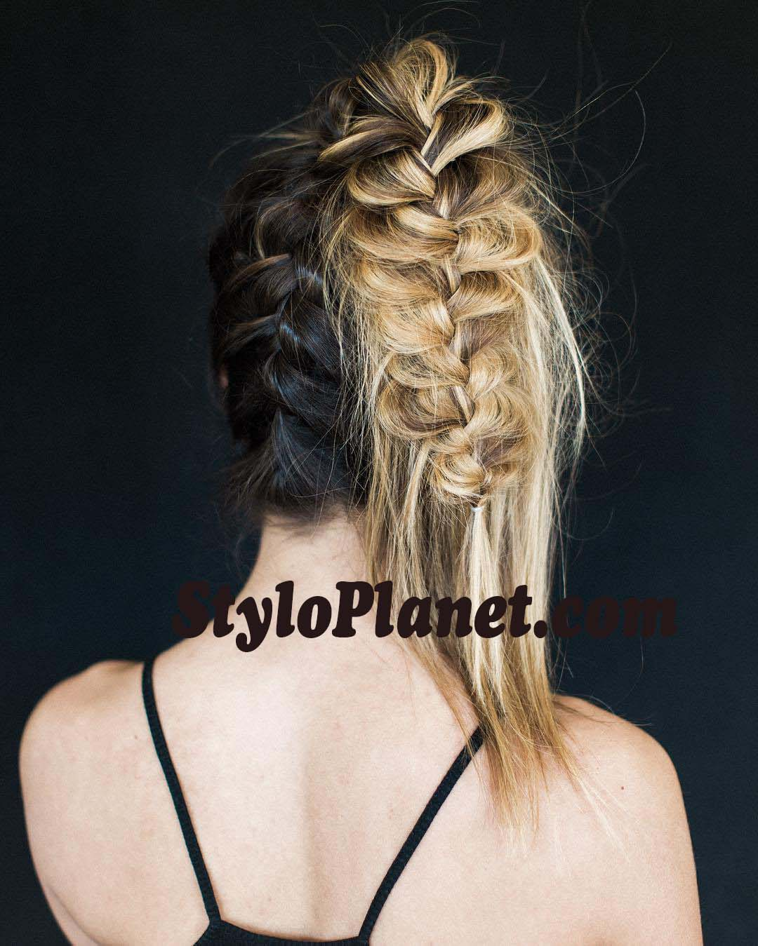 Braided Mesy Ponytail