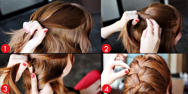 How to Make French Braid Step by Step French Top Knot Tutorial With Pictures (1)