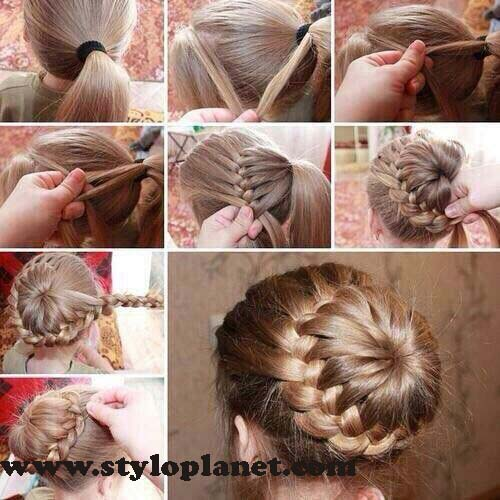 How to Make French Braid Step by Step French Top Knot Tutorial With Pictures (11)