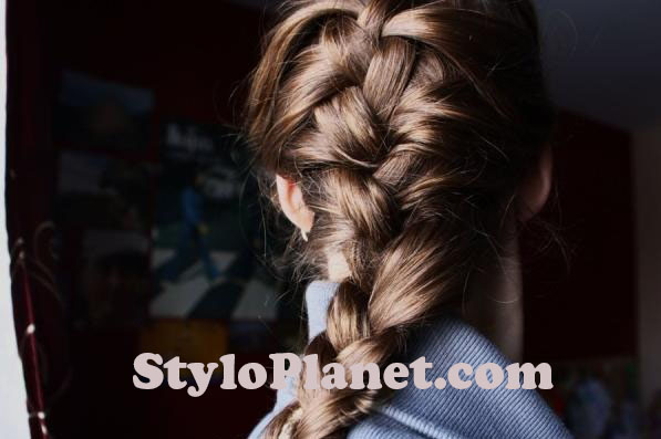 How to Make French Braid Step by Step French Top Knot Tutorial With Pictures (14)
