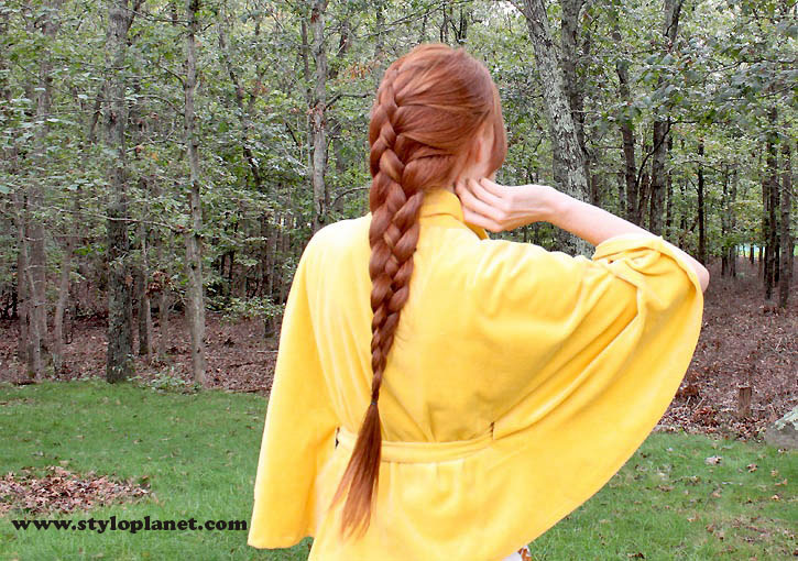 How to Make French Braid Step by Step French Top Knot Tutorial With Pictures (18)