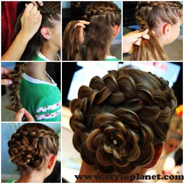 How to Make French Braid Step by Step French Top Knot Tutorial With Pictures (2)