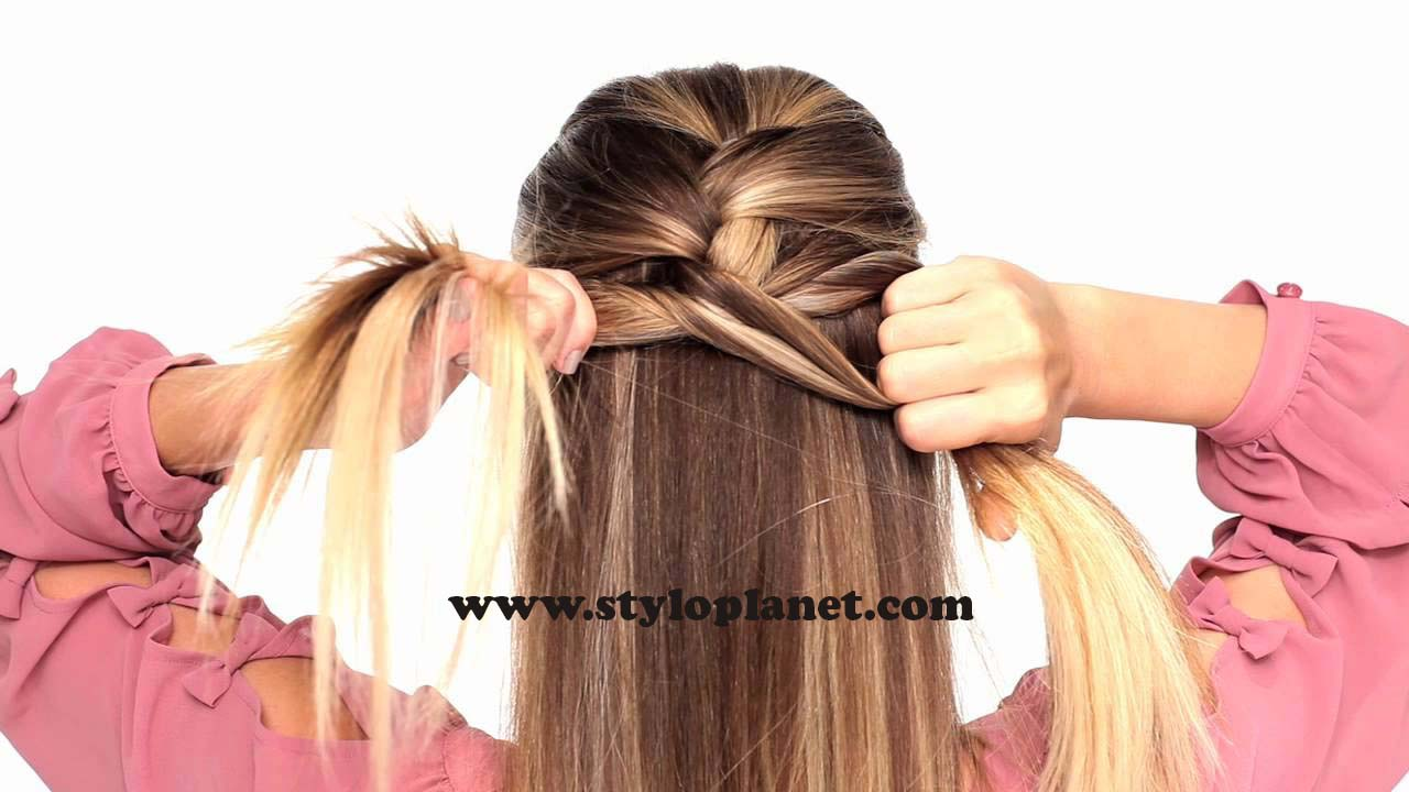 How to Make French Braid Step by Step French Top Knot Tutorial With Pictures (7)