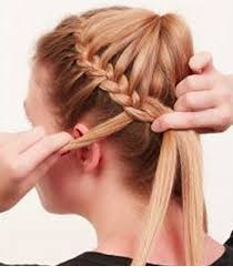 How to Make French Braid Step by Step French Top Knot Tutorial With Pictures (8)