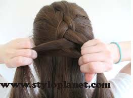 How to Make French Braid Step by Step French Top Knot Tutorial With Pictures (9)