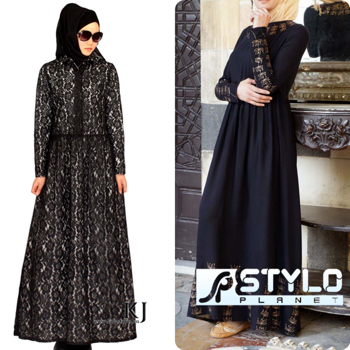 Lace Abaya Designs Latest Collection 2016-2016 for Women (13)