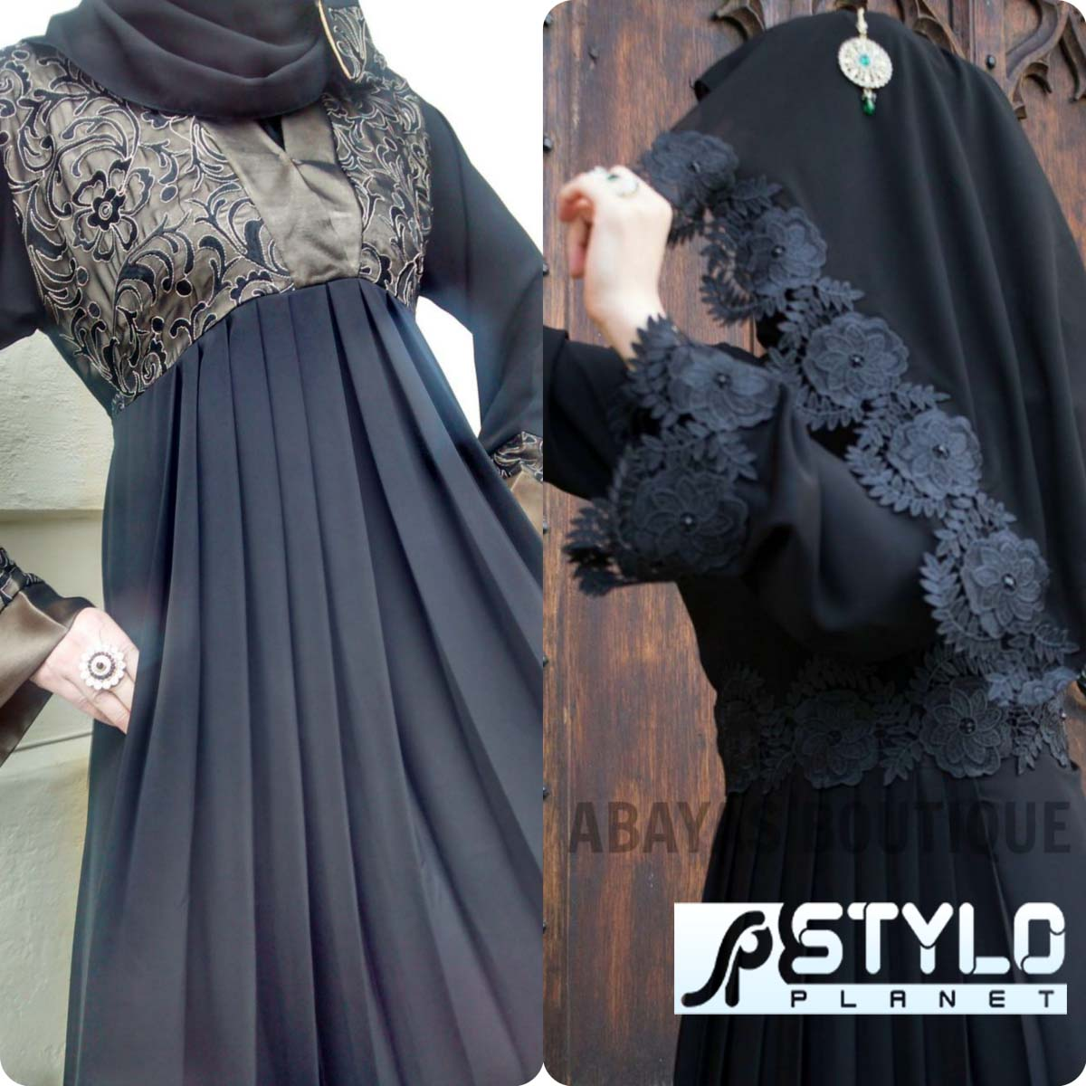 Lace Abaya Designs Latest Collection 2016-2016 for Women (9)