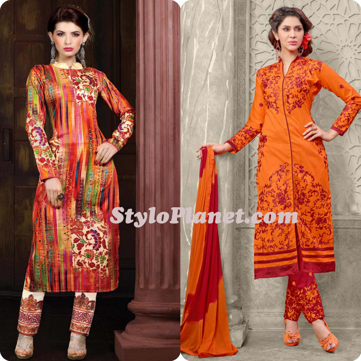 Latest Straight Pant Suits Dresses Design Collection for Women 2016-2017 (15)