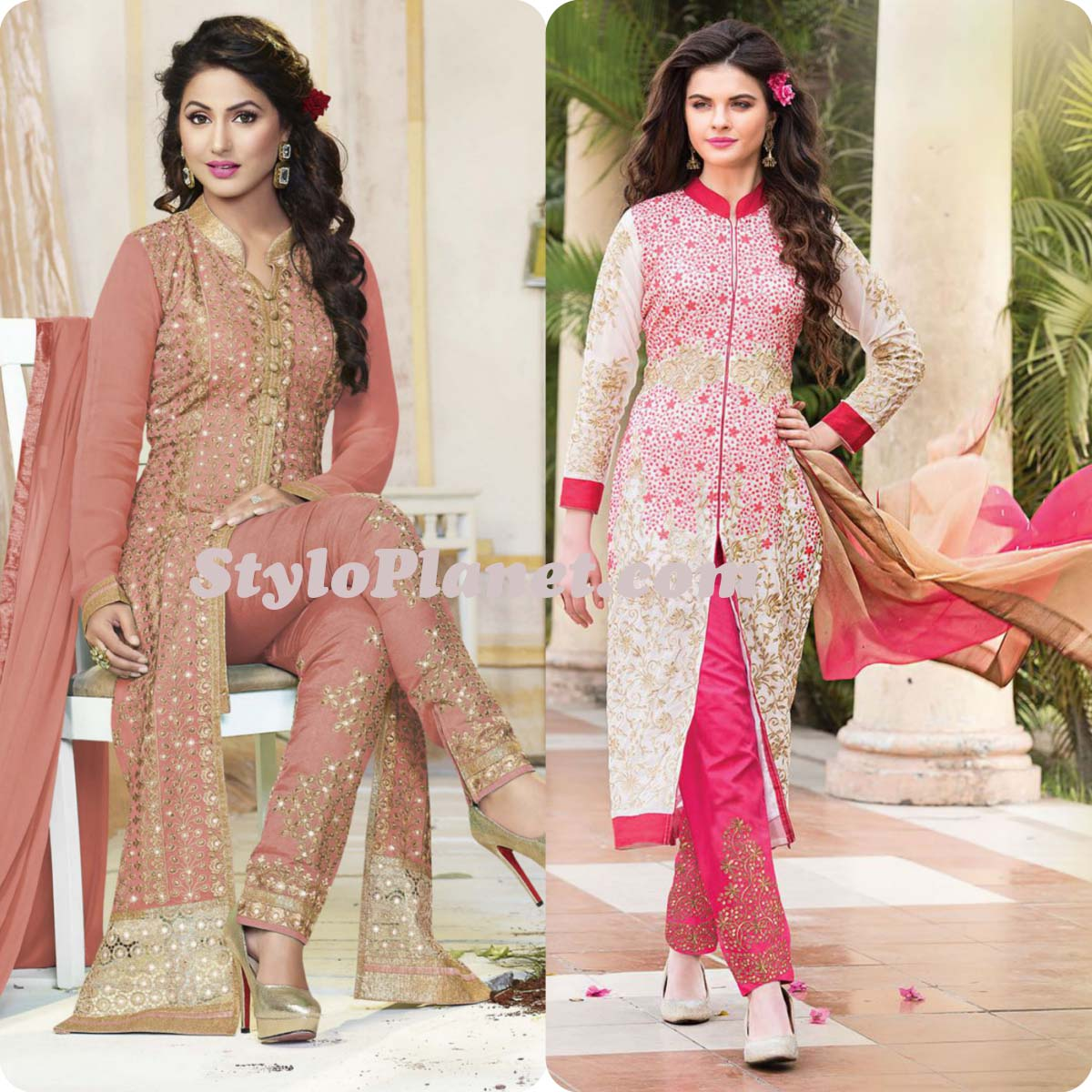 Latest Straight Pant Suits Dresses Design Collection for Women 2016-2017 (22)