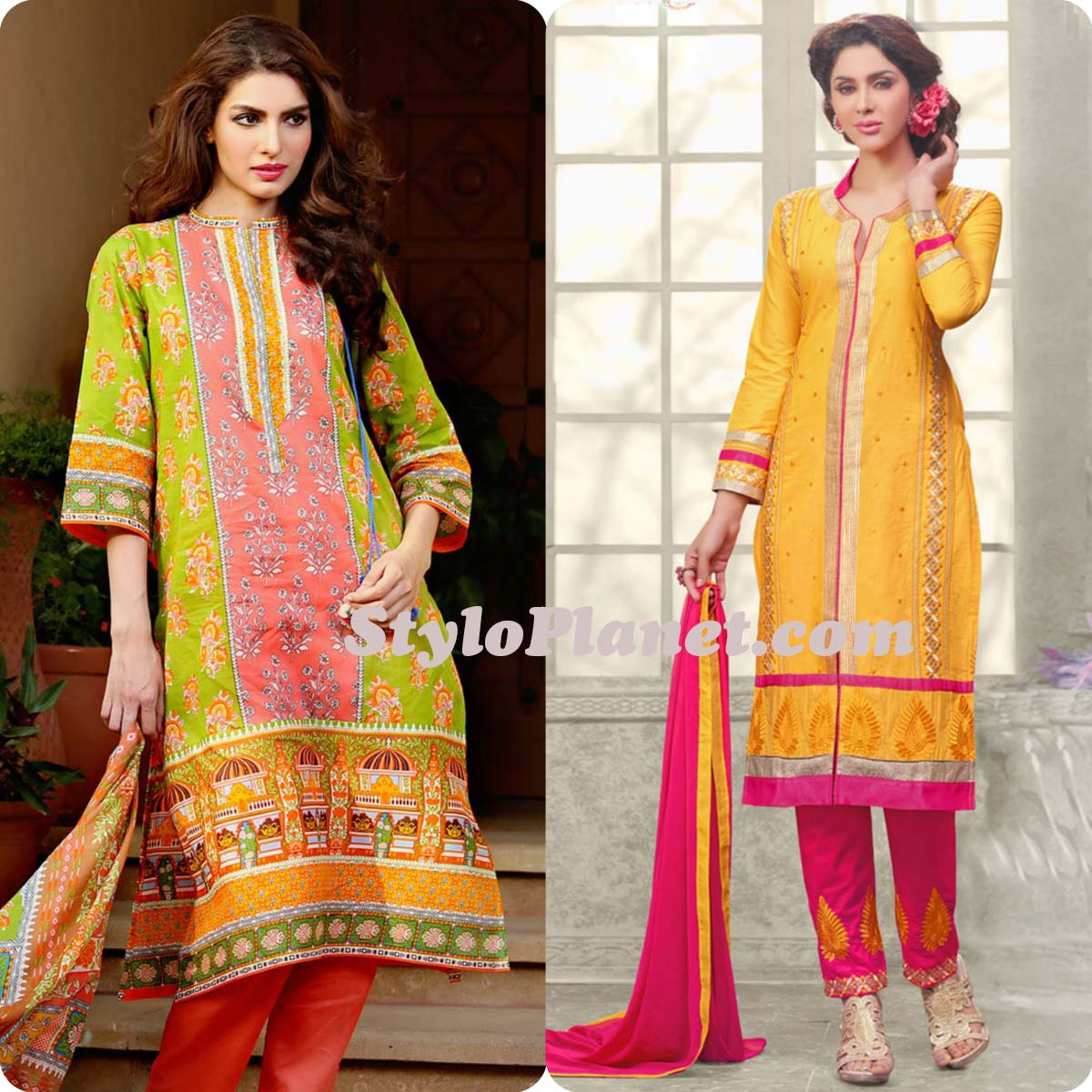 Latest Straight Pant Suits Dresses Design Collection for Women 2016-2017 (25)
